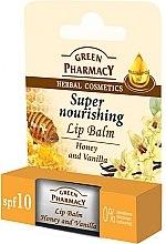 """Voňavky, Parfémy, kozmetika Balzam na pery """"Med a vanilka"""" - Green Pharmacy Lip Balm With Honey And Vanilla"""