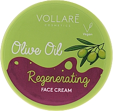 Voňavky, Parfémy, kozmetika Krém na tvár s olivovým olejom - Vollare Regenerating Olive Oil Face Cream