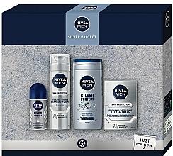 Voňavky, Parfémy, kozmetika Sada - Nivea Men Silver Protect 2020 (balm/100ml + foam/200ml + shower/gel/250ml + deo/50ml)