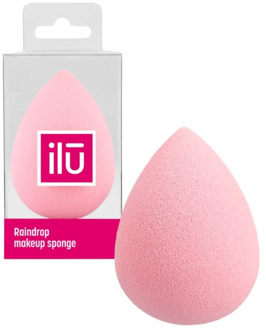 Špongia-kvapka na make-up, ružová - Ilu Sponge Raindrop Pink