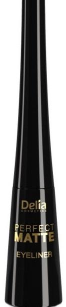 Matná, tekutá očná linka - Delia Cosmetics Perfect Matte Eyeliner
