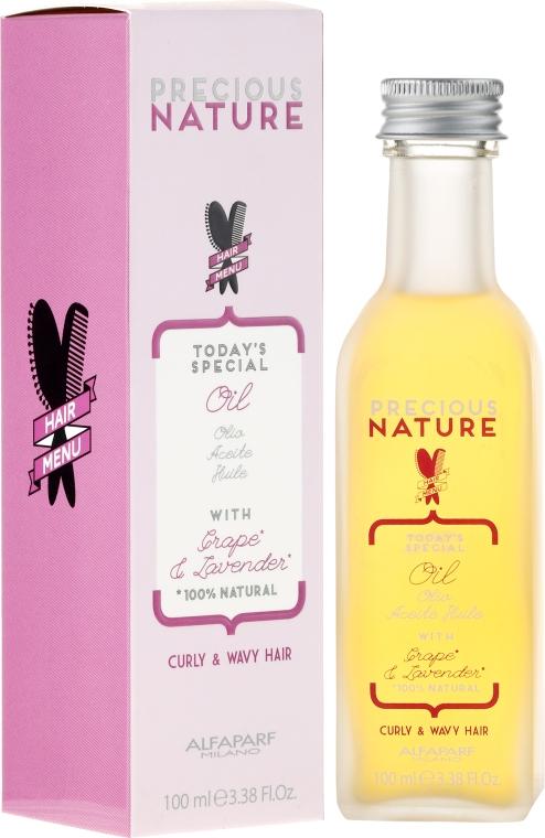 Ultra ľahký olej pre kučeravé a vlnité vlasy - Alfaparf Precious Nature Oil Curly & Wavy Hair Grape & Lavender