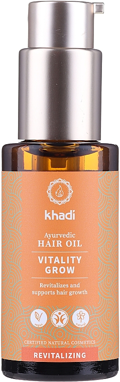 Obnovujúci olej na vlasy - Khadi Ayurvedic Vitality Grow Hair Oil