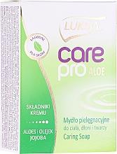 "Voňavky, Parfémy, kozmetika Mydlo ""Aloe a jojoba"" - Luksja Care Pro Aloe & Jojoba Cream Soap"