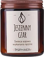 """Voňavky, Parfémy, kozmetika Vonná sójová sviečka """"Jesenné čaro"""" - Bosphaera Autumn Charm Candle"""