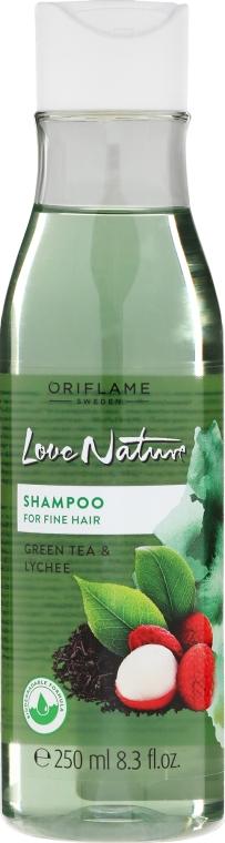 """Šampón pre tenké vlasy """"Zelený čaj a Liči"""" - Oriflame Love Nature Shampoo"""