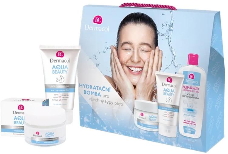 Sada - Dermacol Aqua Beauty (cr/50ml + gel/150ml + lotion/400ml) — Obrázky N1
