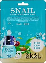 Voňavky, Parfémy, kozmetika Textilná maska s extraktom zo slimáčieho mucínu - Ekel Snail Hydrating Essence Mask