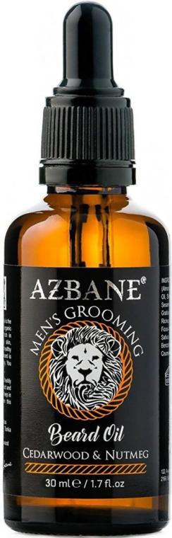 """Olej na bradu """"Céder a muškátový oriešok"""" - Azbane Bean Oil With Cedarwood And Nutmeg Oil — Obrázky N1"""