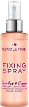 Voňavky, Parfémy, kozmetika Sprej fixujúci make-up - I Heart Revolution Fixing Spray Peaches & Cream
