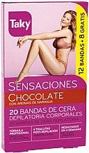 Voňavky, Parfémy, kozmetika Depilačné voskové pásky na telo - Taky Chocolate Body Wax Strips With Orange Fragrance Box