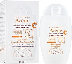 Voňavky, Parfémy, kozmetika Opaľovací krém s minerálnym žiarenim - Avene Eau Thermale Mineral Fluid SPF 50+