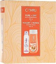 Voňavky, Parfémy, kozmetika Sada - C-Thru Pure & Dry (deo/150ml + sh/gel/250ml)