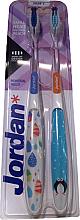 Voňavky, Parfémy, kozmetika Zubné kefky Individual Reach, mäkké, tučniak + rôznofarebné kvapky - Jordan Individual Reach Soft