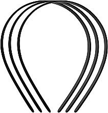 Voňavky, Parfémy, kozmetika Čelenka na vlasy plastová Basic, stredný, 3 ks., čierna - Titania