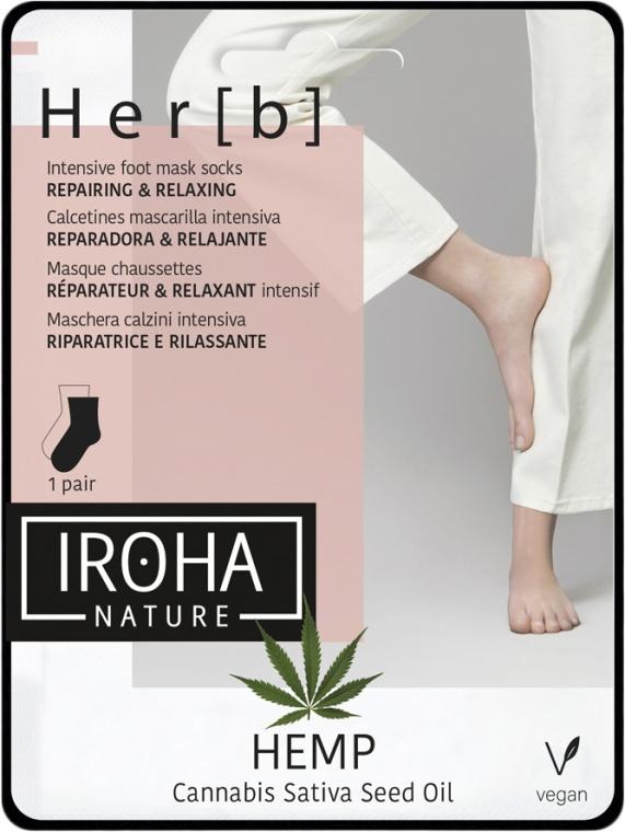 Maska na nohy - Iroha Nature HEMP Cannabis Foot Mask — Obrázky N1