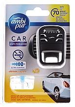 "Voňavky, Parfémy, kozmetika Sada na aromatizáciu auta ""Anti-tabak"" - Ambi Pur (freshener/1szt+refill/7ml)"