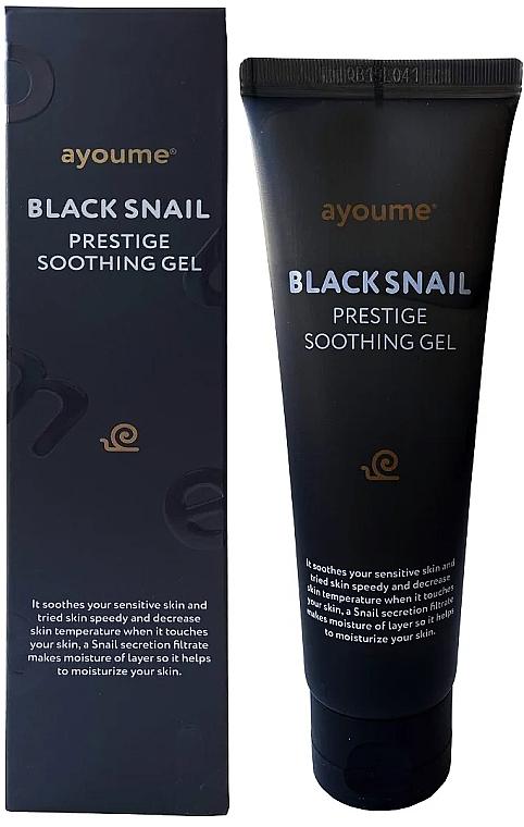 Slimačí mucínový gél pre citlivú pokožku - Ayoume Black Snail Prestige Soothing Gel — Obrázky N1