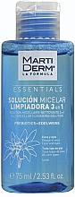 Voňavky, Parfémy, kozmetika Micelárny roztok na čistenie tváre - MartiDerm Essentials Micellar Solution Cleanser 3in1