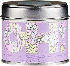 """Voňavky, Parfémy, kozmetika Vonná sviečka """"Dúha"""" - Oh!Tomi Fruity Lights Rainbow Candle"""