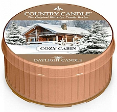 "Voňavky, Parfémy, kozmetika Čajová sviečka ""Útulný domov"" - Country Candle Cozy Cabin Daylight"