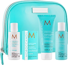 "Voňavky, Parfémy, kozmetika Sada ""Objem"" - MoroccanOil (shm/70ml + cond/70ml + mask/75ml + oil/25ml + bag)"