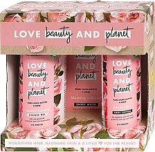Voňavky, Parfémy, kozmetika Sada - Love Beauty&Planet Muru Muru Butter&Rose Set (sh/gel/500ml+mask/29.7g+b/lot/400ml)