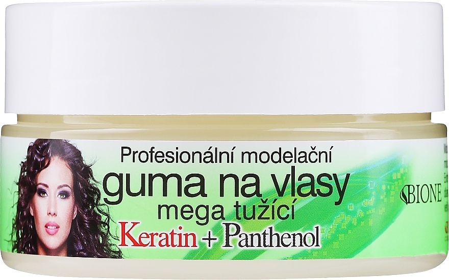 Vosky na vlasy - Bione Cosmetics Keratin + Panthenol Professional Ultra Strong Sculpting Rubber