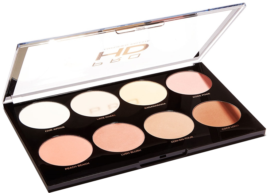 Paleta na líčenie - Makeup Revolution Pro HD Mega Matte Palette — Obrázky N2
