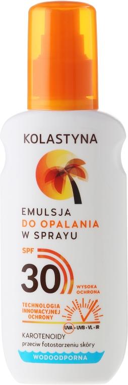 Vodeodolná emulzia pre opaľovanie - Kolastyna Suncare Emulsion SPF30 — Obrázky N1