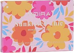 Voňavky, Parfémy, kozmetika Paleta bronzerov - Moira Sunkissed Chic Bronzed Goddess Duo Palette