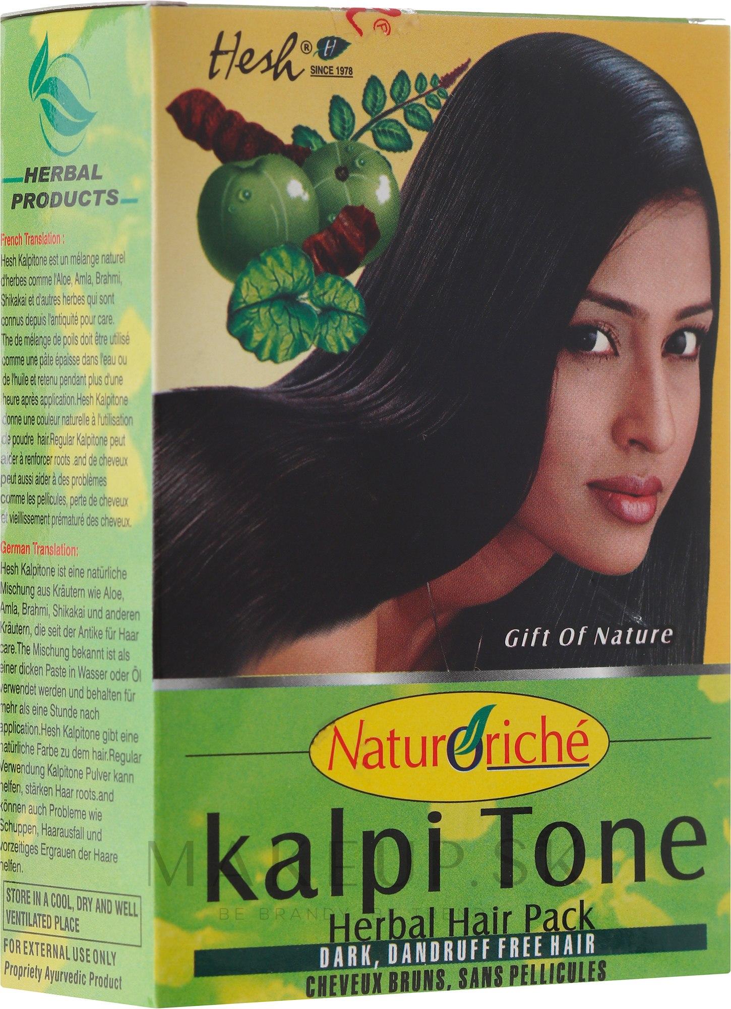 Prášková maska pre tmavé vlasy - Hesh Kalpi Tone Powder — Obrázky 100 g