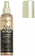 Voňavky, Parfémy, kozmetika Fixačný sprej na make-up - Revolution Pro 24K Gold Fixing Spray