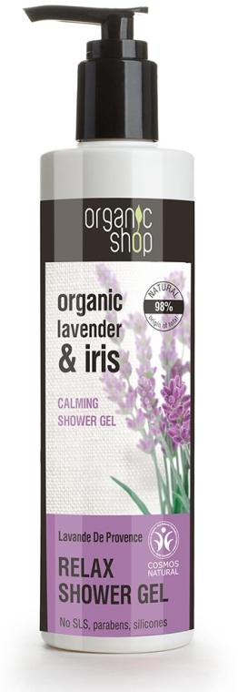 """Upokojujúci sprchový gél """"Provensálska levanduľa"""" - Organic Shop Organic Shop Organic Lavender and Iris Relax Shower Gel"""