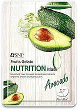 Voňavky, Parfémy, kozmetika Výživná maska na tvár s avokádom - SNP Fruits Gelato Nutrition Mask