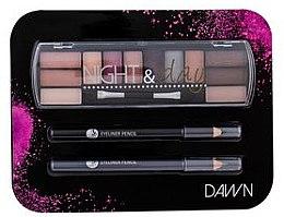 Voňavky, Parfémy, kozmetika Sada - Cosmetic 2K Night & Day Dawn (eye/sh/8,16g + eye/pen/2x0,6g)