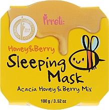 Voňavky, Parfémy, kozmetika Výživná nočná maska s akátovým medom a lesnými plodmi - Prreti Honey & Berry Sleeping Mask