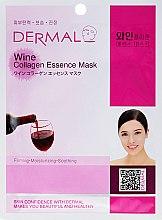 Voňavky, Parfémy, kozmetika Maska s kolagénom a extraktom z červeného vína - Dermal Wine Collagen Essence Mask