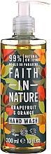 Voňavky, Parfémy, kozmetika Tekuté mydlo na ruky s grepom a pomarančom - Faith in Nature Grapefruit & Orange Hand Wash