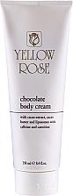 Voňavky, Parfémy, kozmetika Čokoládový tonizujúci masážny krém na telo - Yellow Rose Chocolate Body Cream