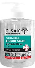 Voňavky, Parfémy, kozmetika Tekuté hydratačné antibakteriálne mydlo s aloe vera, s dávkovačom - Dr. Sante Antibacterial Moisturizing Liquid Soap