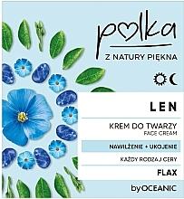 Voňavky, Parfémy, kozmetika Ľanový, hydratačný, upokojujúci krém na tvár - Polka Face Cream