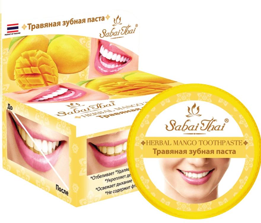 Zubná pasta s mangom - Sabai Thai Herbal Mango Toothpaste