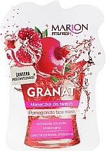 """Voňavky, Parfémy, kozmetika Maska pre tvár """"Granátové jablko"""" - Marion Fit & Fresh Pomegranate Face Mask"""