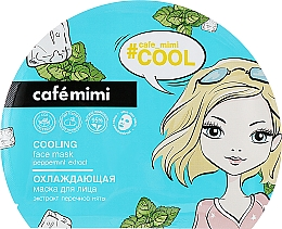 Voňavky, Parfémy, kozmetika Chladiaca maska na tvár - Cafe Mimi Cooling Face Mask Peppermint Extract