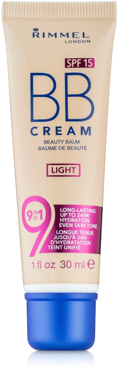 BB Krém - Rimmel Beauty Balm BB Cream 9-in-1 SPF 15