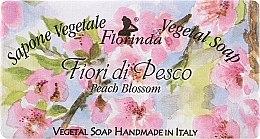 """Voňavky, Parfémy, kozmetika Prírodné mydlo """"Broskyňové kvety"""" - Florinda Sapone Vegetal Soap Peach Blossom"""