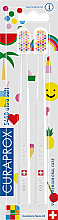 Voňavky, Parfémy, kozmetika Sada zubných kefiek, biele - Curaprox Ultra Soft Pop Art Edition