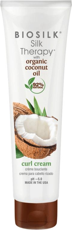 Stylingový krém na vlasy - BioSilk Silk Therapy Organic Coconut Oil Curl Cream