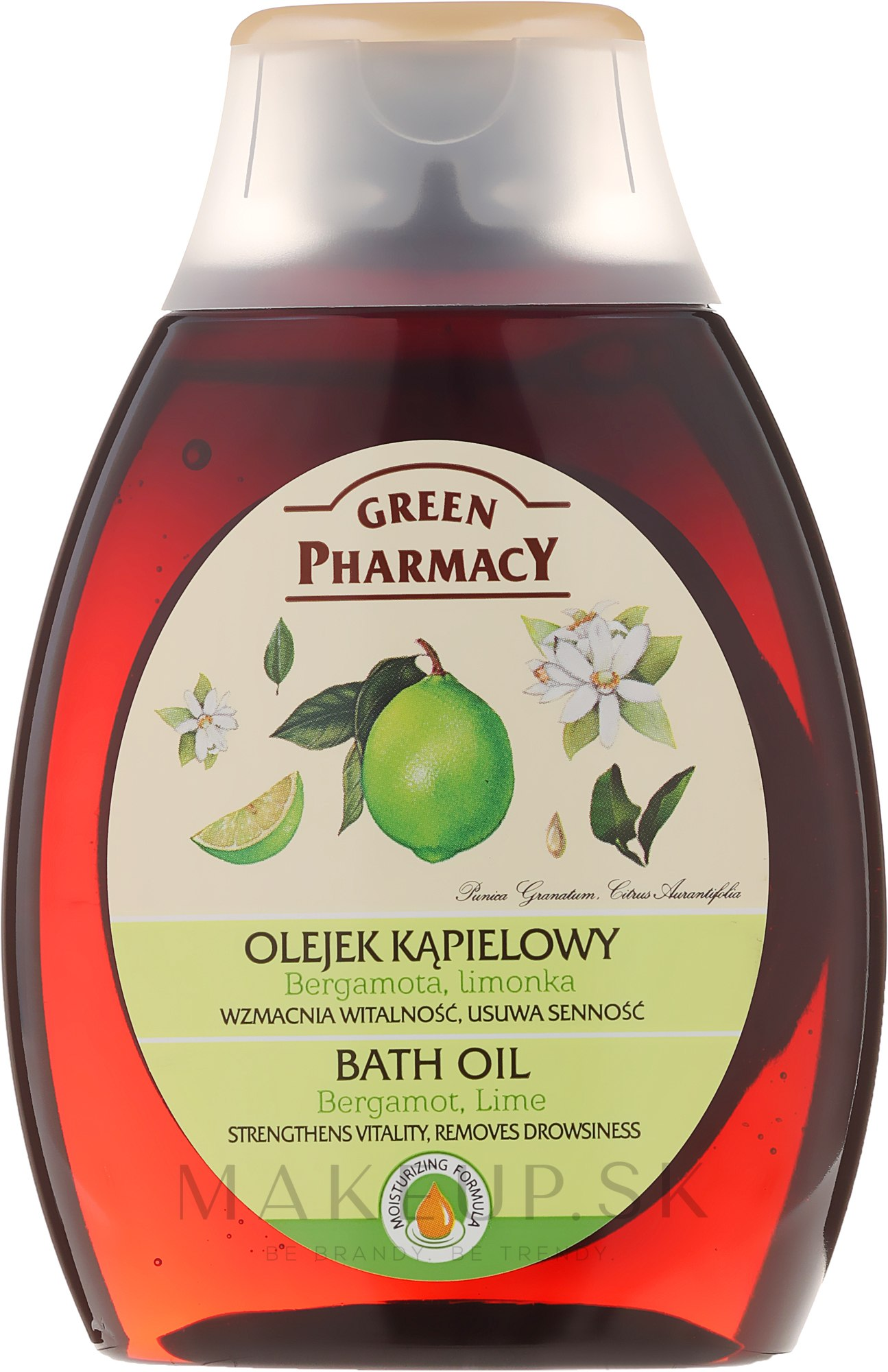 """Kúpeľový a sprchový olej """"Bergamot a limeta"""" - Green Pharmacy — Obrázky 250 ml"""